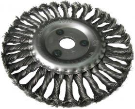 Корщетка-колесо 115х22мм витая (дисковая) для УШМ (болгарки) USPEX 39102U