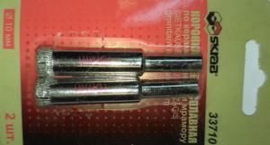 Коронка алмазная по керамограниту и мрамору 12 мм (2шт) SKRAB 33712
