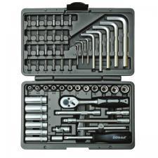 Набор инструментов 56 предметов для авто в чемодане (кейсе) SKRAB 60056