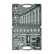 """Набор инструментов 35 предметов 1/2"""" для авто в чемодане (кейсе) SKRAB 60035"""