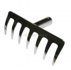 Грабли прямые мини 7 зубьев из нержавеющей стали без черенка SKRAB 28075