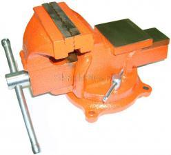 Тиски 150 мм слесарные поворотные чугунные 11,5 кг с наковальней SKRAB 25422