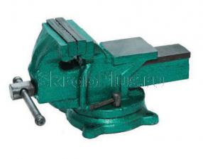 Тиски 100 мм слесарные поворотные чугунные 5,5 кг с наковальней SKRAB 25430