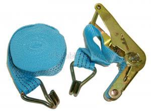"""Ремень стяжной 6 м * 1,5"""", 1500 кг с храповиком и крюками SKRAB 26589"""