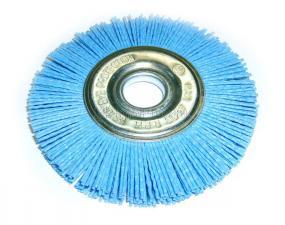 Корщетка-колесо 125 мм нейлоновая дисковая для УШМ (болгарки) оксид циркония (ZrO2) ПРОФИ SKRAB 35478
