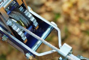 Лебёдка ручная рычажная (тросовая) 4т НР-147D 3 крюка в кейсе JUN KAUNG SKRAB 26447 барабан