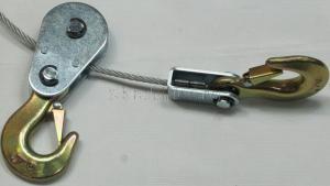 Лебёдка ручная рычажная (тросовая) 4т НР-147D 3 крюка в кейсе JUN KAUNG SKRAB 26447 съемный 3-й крюк