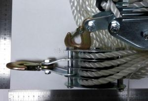 Фото с размерами полиспаста ручного 900 кг 20м SKRAB 26464
