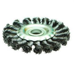 Корщетка-колесо 100х22мм витая (дисковая) для УШМ (болгарки) SKRAB 35420