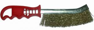 Корщетка ручная латунированная с пластиковой ручкой SKRAB 35301
