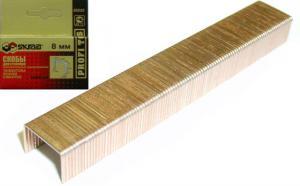 Скобы для степлера 8 мм омедненные оцинкованные (1000 шт) Тип 53 SKRAB 35232 купить на официальном сайте