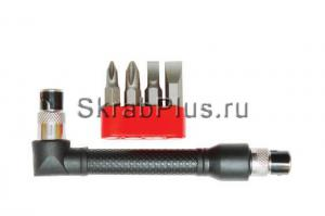 Набор бит 25мм магнитных 4шт с Г-образным держателем SKRAB 41178  купить оптом и в розницу