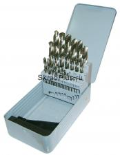 Набор сверл по металлу 25 шт. 1,0 - 13,0 мм ц/х HSS Р6М5 SKRAB 30145 DIN 338 (ГОСТ 10902-77) металлический кейс купить на официальном сайте