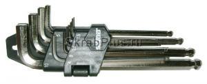 Набор ключей шестигранных 9 шт. 1,5-10 мм длинных с шаром SKRAB 44722 купить купить на официальном сайте в Санкт-Петербурге
