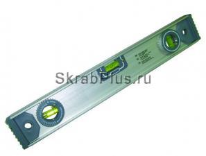 Уровень строительный 400 мм 3 глазка, линейка, угломер SKRAB 40480 купить оптом в СПб