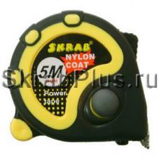 Рулетка 5мх25мм измерительная 3 стопа, нейлон, магнит SKRAB 40134 купить оптом в СПб