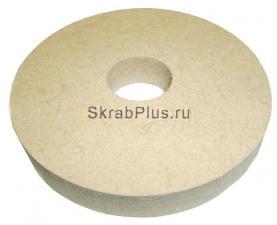 Круг полировальный войлочный станочный 125 мм Premium БЕЛЫЙ SKRAB 35566 купить оптом в СПб