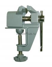 Тиски слесарные мини 40 мм настольные со струбциной Al серые SKRAB 25301 купить оптом в СПб