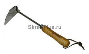 Тяпка косая из нержавеющей стали с металлическим черенком 1430 мм SKRAB 28086