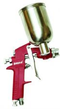 Краскопульт сопло 1,4 мм с верхним алюминиевым бачком 300 мл SKRAB 50051