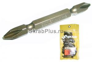 Биты PH 2 x 65 мм магнитные двухсторонние 50 шт S2 SKRAB 41569 купить оптом в СПб