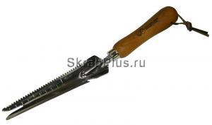 Удалитель сорняков - совок узкий универсальный 330 мм HCS сталь с деревянной ручкой SKRAB 28402 купить оптом в СПб