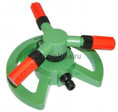 Дождеватель для полива вращающийся 3-х лучевой 360° 85 кв. м SKRAB 28267 купить оптом в СПб