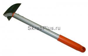 Тяпка косая для левшей из нержавеющей стали с алюминиевым черенком SKRAB 28073 купить оптом и в розницу в СПб