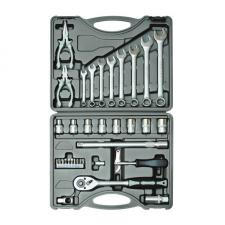 Набор инструментов 35 предметов 1/2 для авто в чемодане (кейсе) SKRAB 60035