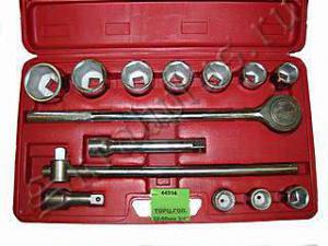 Набор торцевых головок 22 - 50 мм 3/4 14 шт для авто в чемодане (кейсе) SKRAB 44314