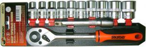 Набор торцевых головок 21 - 65 мм 26 шт для авто в чемодане (кейсе) SKRAB 44326
