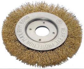 Корщетка-колесо 180х22мм (дисковая) латунированная (гофрированная) для УШМ (болгарки) USPEX 39067U