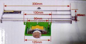 Схематические размеры стола двухкоординатного SKRAB 25502