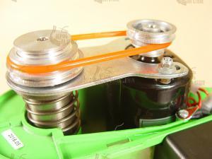 шкивы с ремнем дают диапазон скоростей от 5000 до 8500 об/мин