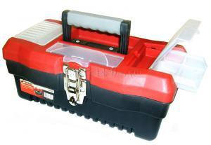 """Красного цвета Ящик для инструментов 13"""" (330*172*140 мм) с металлическими замками MJ-3079 SKRAB 27701"""