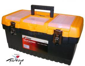Ящик для инструментов 19 (486*267*242 мм) морозостойкий с металлическими замками MT-19 SKRAB 27585