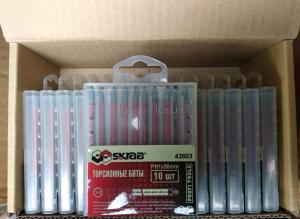 Оригинальное фото: Биты PH1 x 90 мм антислип магнитные 10 шт красные  S2 SKRAB 43603 упакованы по 15 шт. в коробке