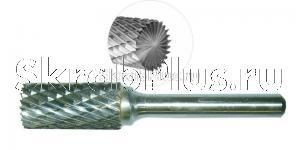 Борфреза 10 мм цилиндрическая с торцевыми зубьями по металлу B1020M06 CrMo сталь SKRAB 37117 купить оптом и в розницу в СПб
