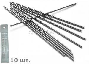 Сверло по металлу 2,1*56*85 мм удлиненное ц/х 10 шт. HSS Р6М5 SKRAB 33021 DIN 340 (ГОСТ 886-77)