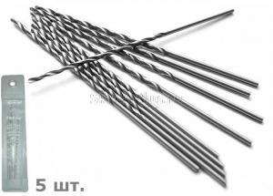 Сверло по металлу 5,0*87*132 мм удлиненное ц/х 5 шт. HSS Р6М5 SKRAB 33050 DIN 340 (ГОСТ 886-77)